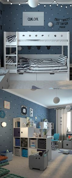 Cool Room Ideas for the Coolest Kid in the House – mybabydoo Coole Raumideen Kids Bedroom Boys, Cool Kids Rooms, Boys Bedroom Decor, Small Room Bedroom, Baby Boy Rooms, Trendy Bedroom, Bedroom Themes, Small Space Interior Design, Kid Spaces