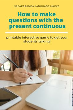 Get your students talking in the present continuous and learning the correct form and use. #English #learn #teachenglish #ESL #EFL #bilingualism #grammar #speakingactivity What Do Butterflies Eat, Teaching English, Learn English, Speaking Games, Printable Board Games, Esl, Small Groups, Grammar, You Got This