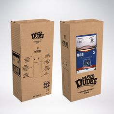 Our Paper Dudes Packaging Design :) Eco Paper, recycled PVC window