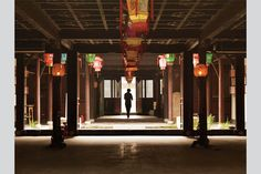 A restored ceremonial hall in Jinze, China.