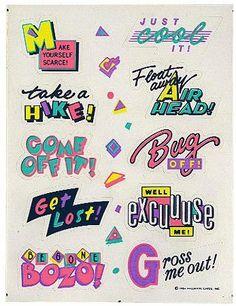 80s stickers