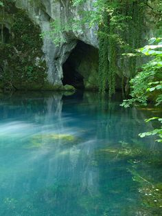 water, nature, and blue image Nature Aesthetic, Travel Aesthetic, Aesthetic Green, Summer Aesthetic, Places To Travel, Places To Go, Fantasy Landscape, Landscape Art, Landscape Paintings