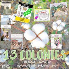 13 Colonies Unit- Thirteen Colonies-Life in Colonial Ameri