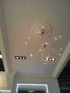 Secretul unui look original poate fi suprins de simplitatea designului unei rozete pentru tavan!  #profiledecorative #rozetetavan Decor, Ceiling Lights, Ceiling, Home Decor, Light, Chandelier