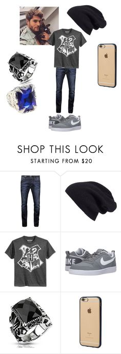 """""""Hunter Ward"""" by purdy-coma ❤ liked on Polyvore featuring Jack & Jones, Halogen, Bioworld, NIKE, West Coast Jewelry, Incase, men's fashion and menswear"""