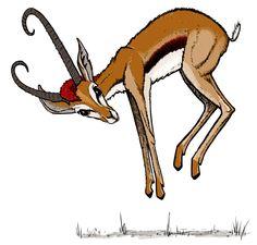 Gazelle Cartoon Clipart - Free Clip Art Images