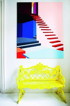 This chair and painting would make a statement in any home