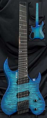 760364282244 Kiesel Guitars Custom Shop In Stock Vader Headless Multiscale Guitar