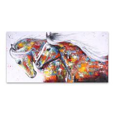 CHENFART Wall Art Canvas Prints Animal Picture The Running Horse Home Decor Canvas Oil Painting for Living Room no Framed