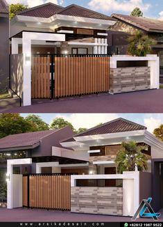 Home Gate Design, House Fence Design, House Outside Design, Home Building Design, Bungalow House Design, Home Room Design, Dream Home Design, Home Design Plans, Minimal House Design