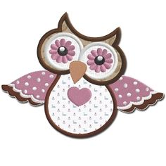Owl 3 Applique - 5x7 | Featured Products | Machine Embroidery Designs | SWAKembroidery.com Embroidershoppe