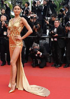 Irina Shayk attends the Premiere of 'Sicario' during the 68th annual Cannes Film Festival on May 19, 2015 in Cannes, France. (Photo by Ian Gavan/Getty Images)