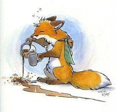 Сонная лисица #fox..Lol..yep that is me too ;D