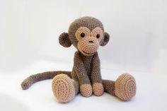 PATTERN : Monkey Amigurumi Monkey-pattern Crochet von Anatillea