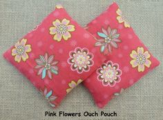 Ouch Pouch Free Shipping Pink Flowers Boo Boo by InHerInnerPeace