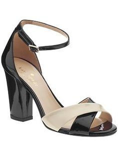 keeping in line with the color-blocking, sixties vibe. . .   isabel sandal, kate spade ny, piperlime.com