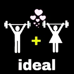 Love it when my hubby works out with me. I usually have to be him, but I still love it!