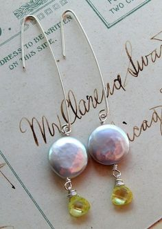 Silver Moons / FWCoin Pearls, Cubic Zircon | miabellacollection-jewelry - Jewelry on ArtFire