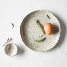 Handmade Ceramic Salt Dish + Spoon | LET LIV