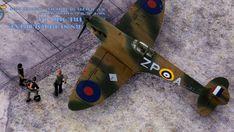 Supermarine Spitfire Mk.1a, P9953, ZP-A, No. 74 Squadron, Sq.-Ldr. D.F. Sailor Malan, RAF Battle of Britain, summer 1940 Supermarine Spitfire, Battle Of Britain, Ldr, Scale Models, Airplane, Sailor, Summer, Autos, Dioramas