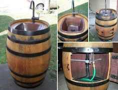 Outdoor barrel sink