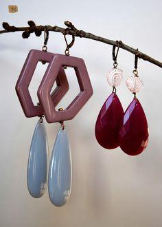 Earrings with big shapes  MY HANDMADE YEWELRY https://it.pinterest.com/mteresacostanzo/my-handmade-jewelry/