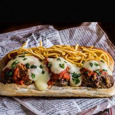 The Only Sandwich You Need This Super Bowl: Meatball Parm #FWx