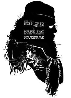 Dumbledore - Quote Silhouette Art Print