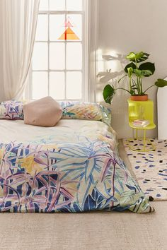 Painterly Foliage Duvet Cover | Urban Outfitters