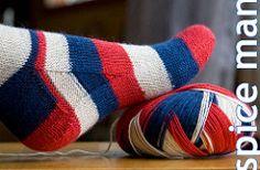 Ravelry: Spice Man - basic toe-up, all sizes pattern by Yarnissima