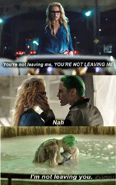 Lol, that's a cute quote about Harley and Joker❤❤ (He slapped her with a gun in between, but yeah. Harley And Joker Love, Joker And Harley Quinn, Harly Quinn Quotes, Dc Comics, Der Joker, Jared Leto Joker, Harley Quinn Drawing, Margot Robbie Harley Quinn, Harely Quinn