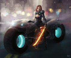 Lady Spicyberpunk by hifarry