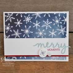Stampin' Dolce: Simple Christmas card using Stampin' Up! Fall Cards, Winter Cards, Xmas Cards, Holiday Cards, Stampin Up Christmas, Christmas Tag, Christmas Crafts, Simple Christmas, Christmas Ideas
