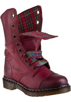 Dr. Martens - Aimilie Lace-up Boot Cherry Red Leather. I'm dying for these!