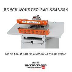 Bench mounted bag sealers offer durability and operation equal to more expensive methods of sealing. Call us today to speak to an owner! 1.800.722.2325 http://www.beckpackaging.com/ #BeckPackaging #BeckSolutions #MachineMatchmakers