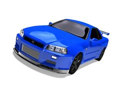 Nissan Skyline GT-R r34 3d model - first render