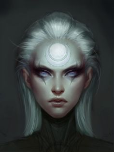Portrait of Diana, Scorn of the Moon. A character from League of Legends. Had some help from Katie De Sousa on this! Fantasy Girl, Chica Fantasy, Fantasy Women, Gothic Fantasy Art, Fantasy Artwork, Fantasy Inspiration, Character Inspiration, Story Inspiration, Character Portraits