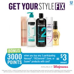 Free hair tutorials AND 3,000 FREE Walgreens points, here's how!