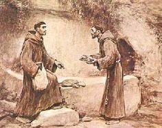 Franziskus und ein Gefährte nach einer Betteltour