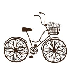 Bicycle with flowers vector  - by Chuhail on VectorStock®