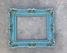 Shabby Chic Frame, Baroque Mirror, Turquoise Frame for Canvas or Art Paint, Large Pictures Frames Mirror Painting, Painting Frames, Mirror Canvas, Canvas Art, Mirror Art, Canvas Frame, Large Picture Frames, Baroque Mirror, Shabby Chic Frames