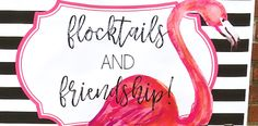 Fluff your feathers and come flock around, a fun Flocktails and Friendship Flamingo Themed Ladies' Night is featured at Kara's Party Ideas