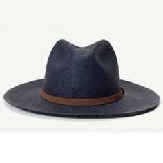 Scorpion Bay Navy Straw Fedora Hat  085238e7ca6b