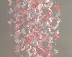 Papier Lace Kronleuchter Monarchfalter Mobile von DragonOnTheFly