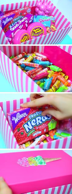 Cute Candy Box | Click Pic for 22 DIY Christmas Gifts for Kids to Make | Handmade Christmas Gifts for Girls