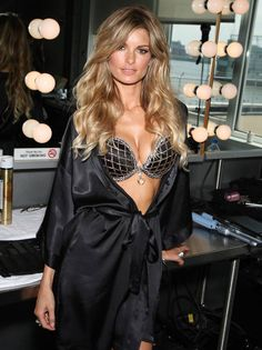 "In 2009, #Marisa Miller was chosen to wear the $3,000,000 ""Harlequin Fantasy Bra."" It featured 2,300 white, champagne, and cognac colored diamonds on the cups, as well as a 16 carat heart-shaped diamond pendant in the center. - This bra was featured in the 2009 Victoria's Secret Fashion Show. #VSFS #VSFS_2009"