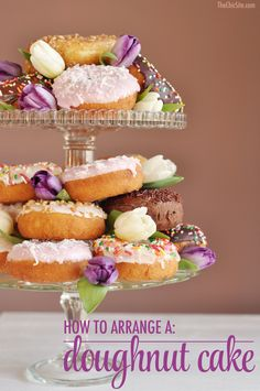 Image result for how to make a donut cake tower