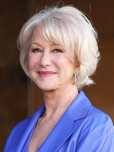 Short hairstyles for women over 60 with side bangs for fine hair