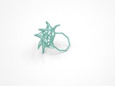 Aster Ring (Small) Size 8 in White Strong & Flexible