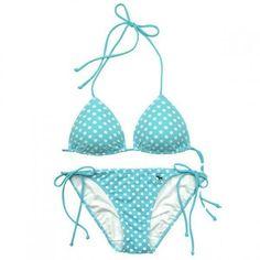 Abercrombie & Fitch Women's Swimwear Cayla Blue Dot Halter Bikini